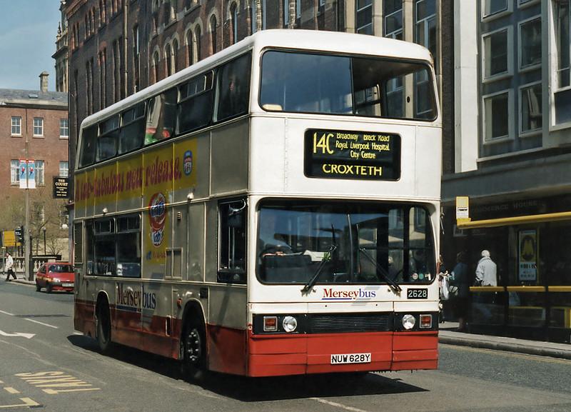 2628 NUW628Y, Liverpool 13/5/1996