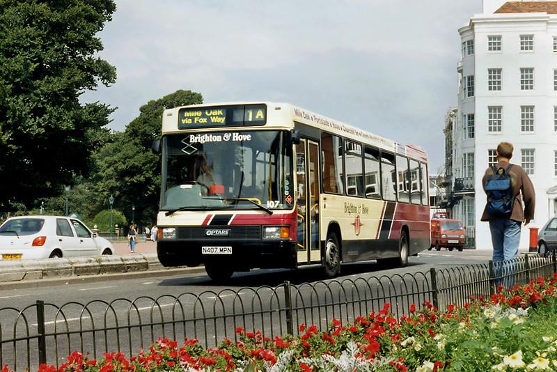 107 N407MPN, Brighton 13/8/1996