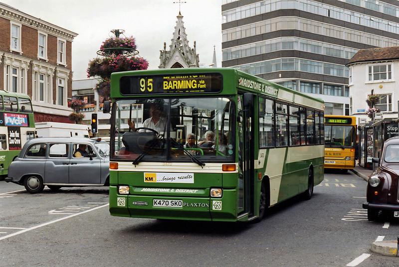 3470 K470SKO, Maidstone 14/8/1996