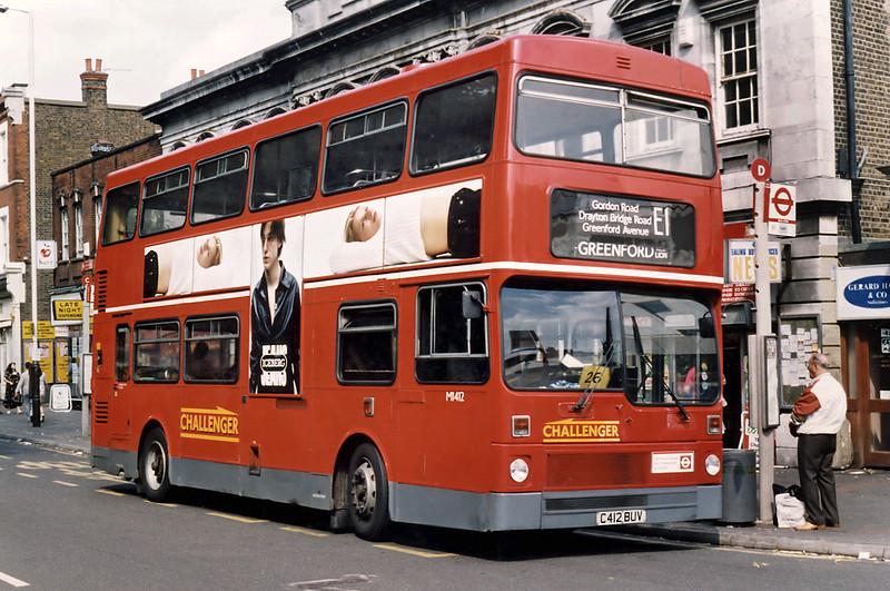 M1412 C412BUV, Ealing Broadway 16/8/1996