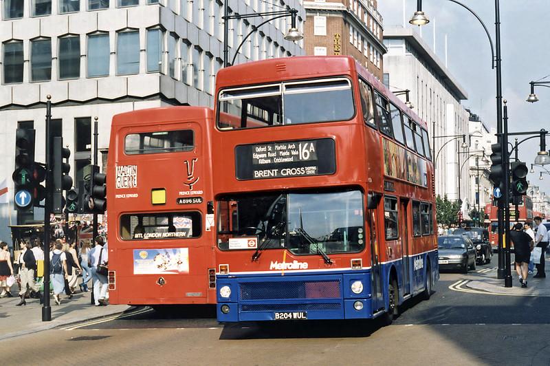 M1204 B204WUL, Oxford Street 16/8/1996