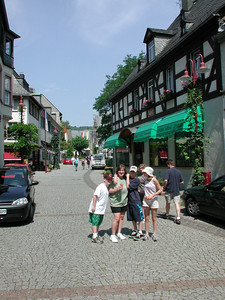 Rudeshein is a typical German tourist area, teaming with people and shops. This picture is one of the quieter streets we wondered down.
