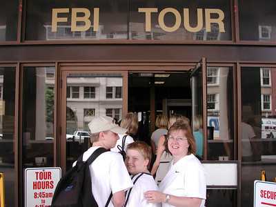 First stop is to try the FBI tour again.  What do you know... it is actually open!  No sign of Mulder and Scully though...  I want my money back.  We were able to see some of the labs and what has to be the largest collection of guns in the country.  ***   Afterwards we had a quick meal at the McDonald's across from the FBI building (we are learning you get the food whenever you can) and then it was off to the Air and Space Museum.
