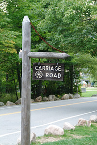"""One of the more interesting features of Acadia are the 57 miles of """"Carriage Roads"""" that wind through the park.  The visitors center had an interesting movie that described how John Rockefeller financed the construction of these """"motor vehicle free"""" roads between 1913 and 1940."""