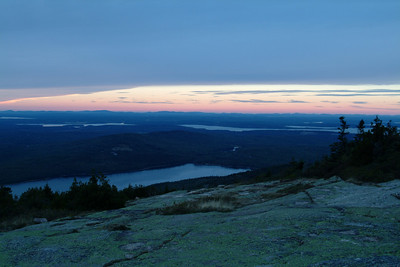 Our last stop of the day was to try and catch sunset at Cadillac Mountain.  The clouds were not going to cooperate though and the sunset was nowhere near as spectacular as the sunrise earlier in the day.