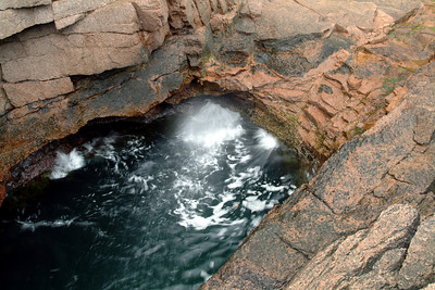 Our first experience at Thunder Hole made us think it should be called Gurgle Hole.