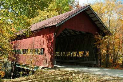 We spent a lot of our time just driving around.  Vermont is definitely the state for covered bridge lovers- there are many of them here.