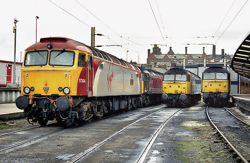 57304, 47848, 47847 and 47810, Preston 24/1/2003