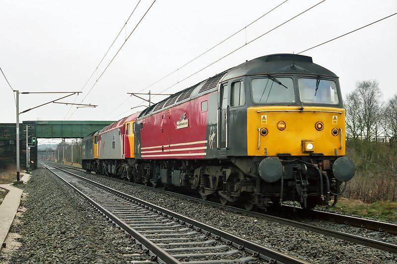 47810, 57305 and 47847, Acton Grange 26/1/2003