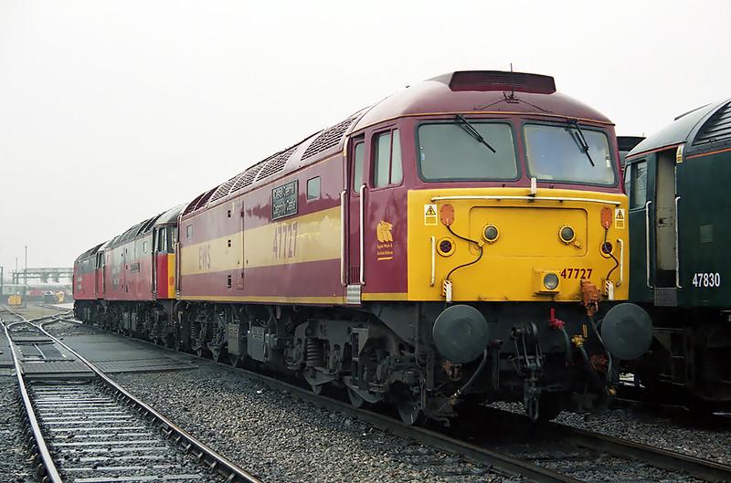 47727, 47725 and 47761, Crewe 26/1/2003