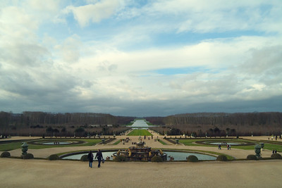 The gardens behind Versailles... yes the reflecting pool goes *way* off into the distance.