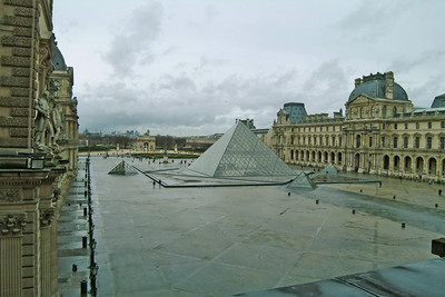 The Louvre courtyard.