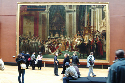 One (big) hall was dedicated to nothing but large paintings.  Gina noticed that the subjects are probably life size.