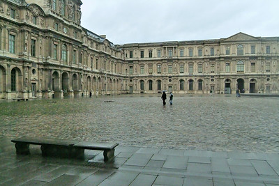 "The ""small"" inner courtyard at the Louvre."