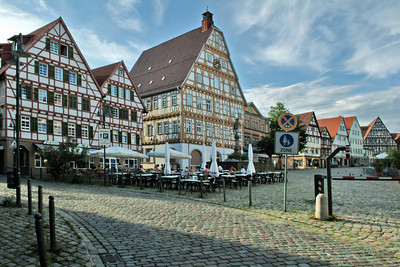 The main plaza in the Marketplatz.