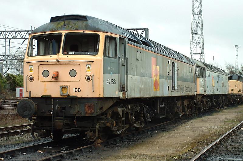 47188 and 47213, Crewe 20/3/2004