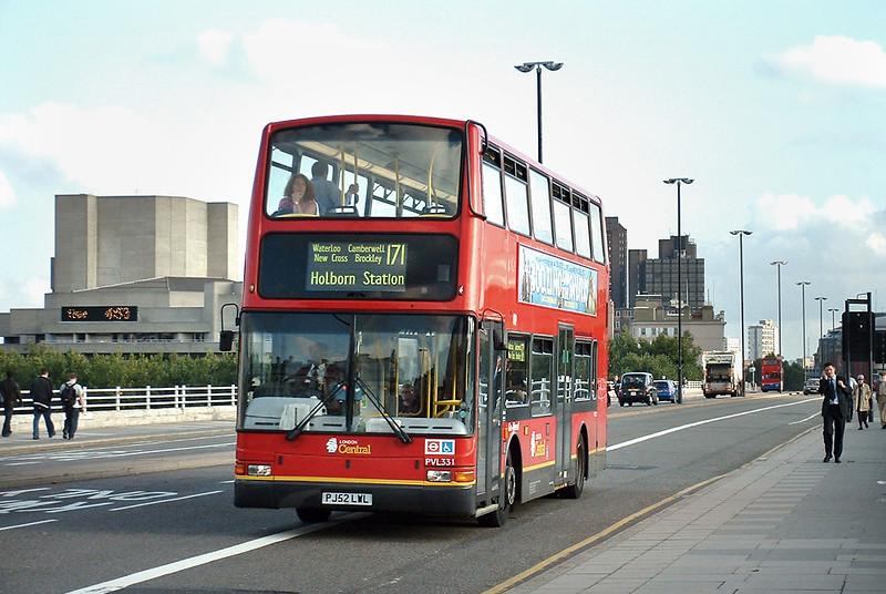 PVL331 PJ52LWL, Waterloo Bridge 30/9/2004