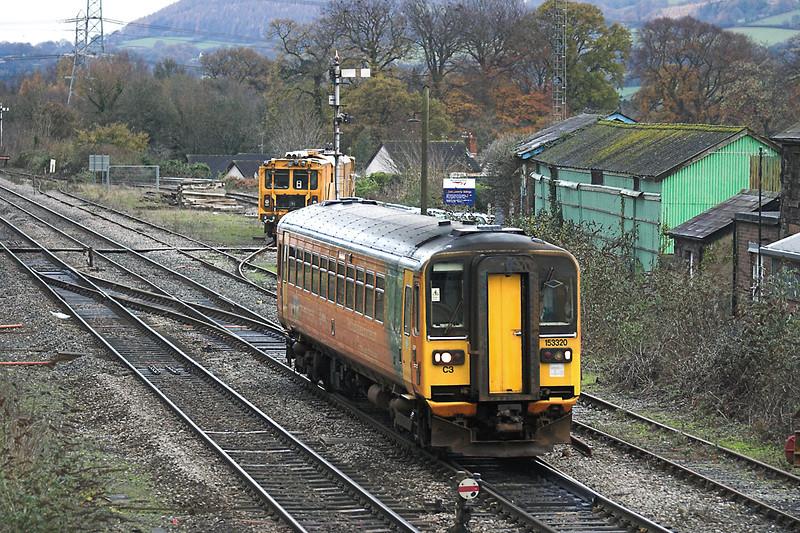 153320 Abergavenny 3/12/2005<br /> 2B16 0910 Cardiff Central-Abergavenny