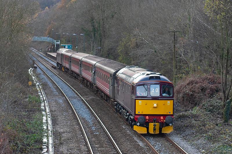 33207 and 47854, Llanbradach 4/12/2005<br /> 1Z40 1256 Cardiff Central-Rhymney