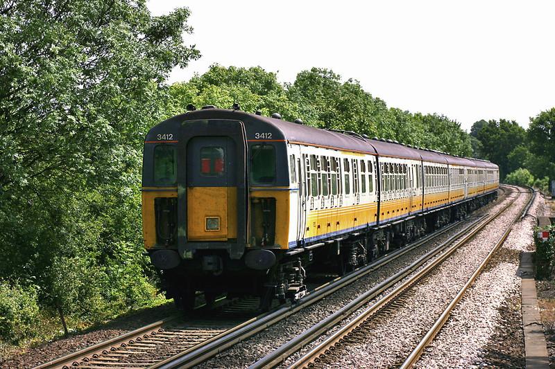 3412 and 3545, Farningham Road 7/6/2005<br /> 2K24 1111 London Victoria-Faversham
