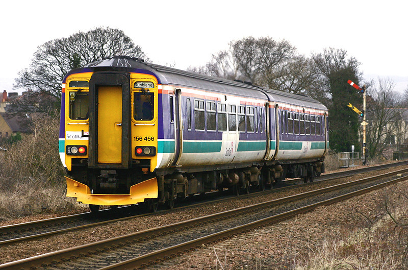 156456 Larbert Junction 8/2/2005<br /> 2P27 1349 Newcraighall-Dunblane