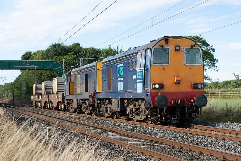 20306 and 20315, Brock 8/8/2005<br /> 6K73 1535 Sellafield-Crewe CLS