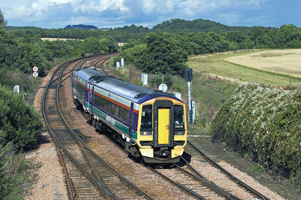158731 Inverkeithing East Junction 10/8/2005<br /> 2G61 1550 Edinburgh-Edinburgh (via Fife Circle clockwise)