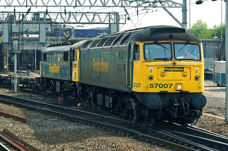 57007 and 86613, Crewe 11/5/2005<br /> 8T45 1515 Basford Hall-Crewe IEMD