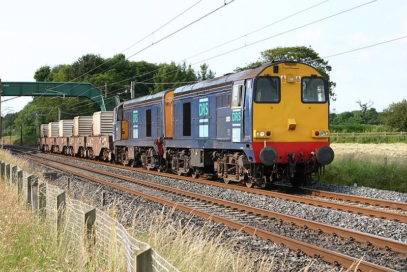 20315 and 20311, Brock 11/7/2005<br /> 6K73 1535 Sellafield-Crewe CLS