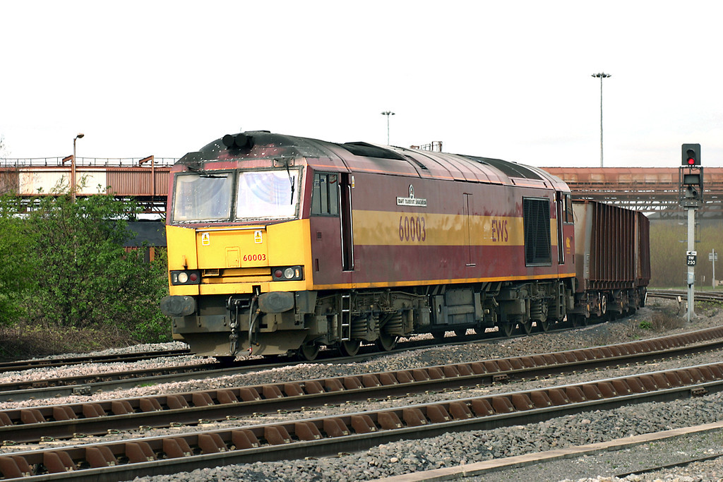 60003 Immingham West Junction 12/4/2005<br /> 6T25 1343 Immingham Ore Terminal-Santon