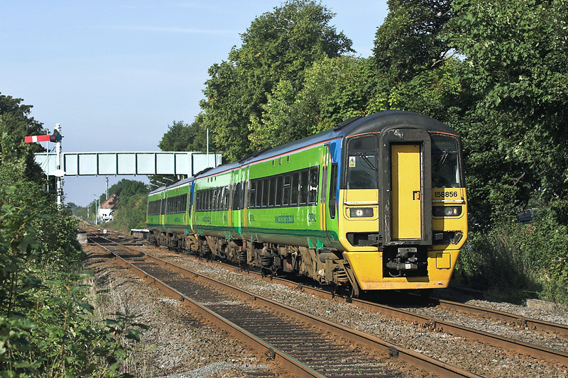 158856 and 158794, Bingham 12/9/2005<br /> 2E13 0808 Crewe-Skegness