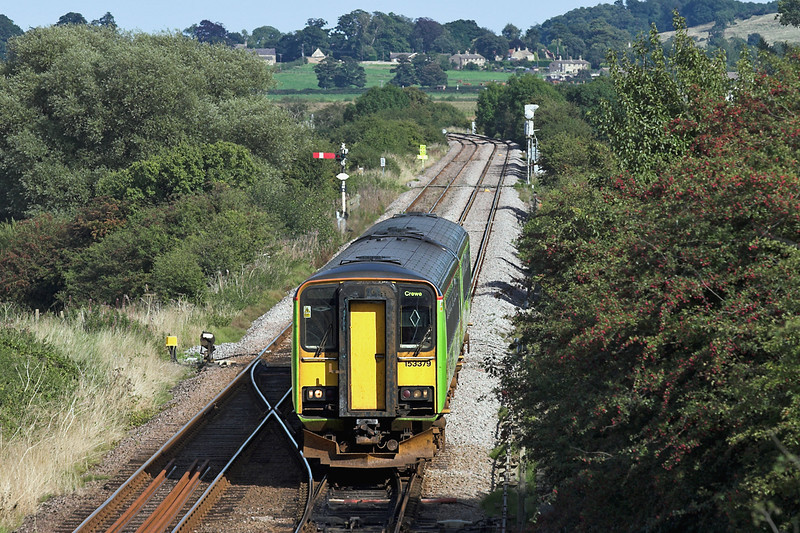 153379 and 153384, Barkston East Junction 12/9/2005<br /> 2A77 1356 Skegness-Crewe
