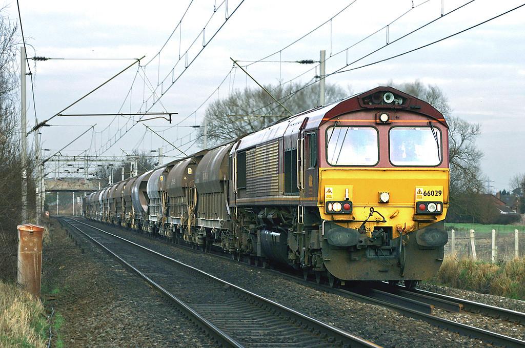 66029 Moss Pit 14/1/2005<br /> 6V70 1153 Stoke on Trent-Tidal Sidings