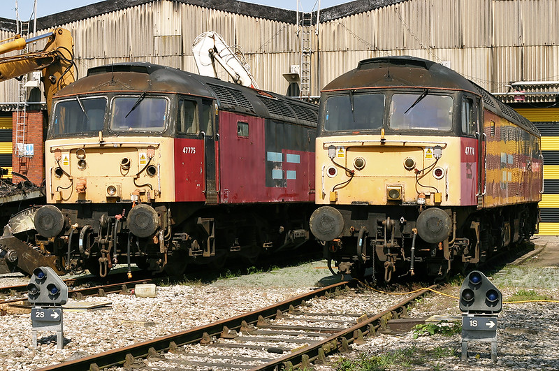 47774 and 47775, Crewe 14/5/2005
