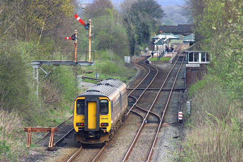 156440 Ulverston 15/4/2005<br /> 2C54 1255 Barrow in Furness-Lancaster