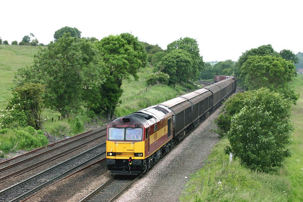 60080 Melton Ross 16/6/2005<br /> 6D45 1250 Doncaster Belmont Yard-Immingham Down Yard