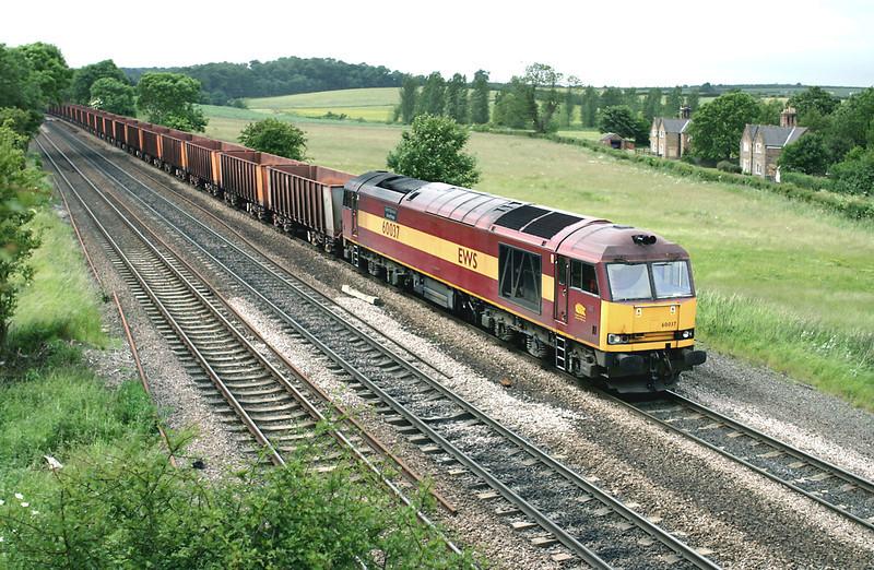 60037 Melton Ross 16/6/2005<br /> 6K24 1318 Stanton-Immingham Ore Terminal