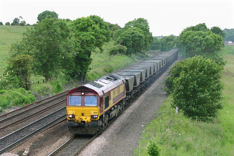 66176 Melton Ross 16/6/2005<br /> 6D03 0850 Drax PS-Immingham Reception Sidings