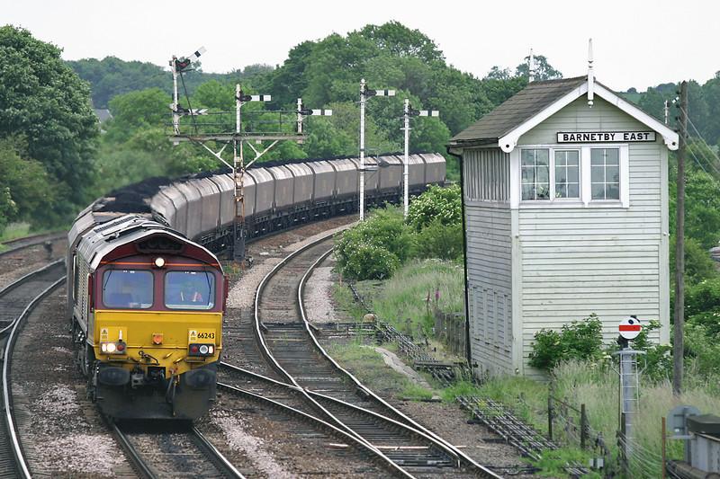 66243 Barnetby 16/6/2005<br /> 6C79 1645 Immingham Bulk Terminal-Scunthorpe