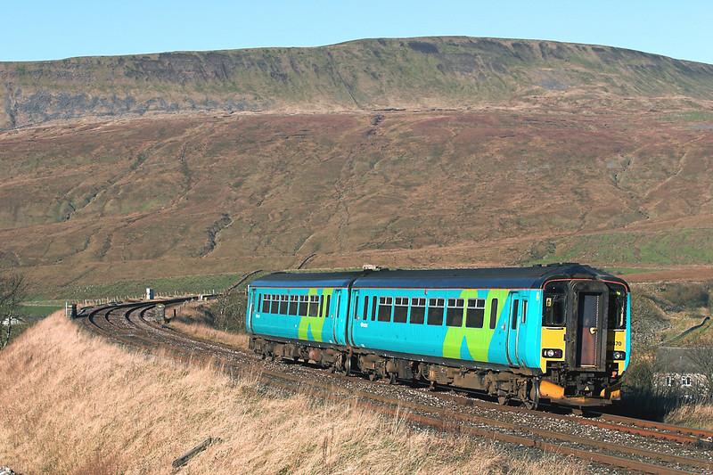 156470 Ribblehead 17/11/2005<br /> 2H85 0857 Carlisle-Leeds