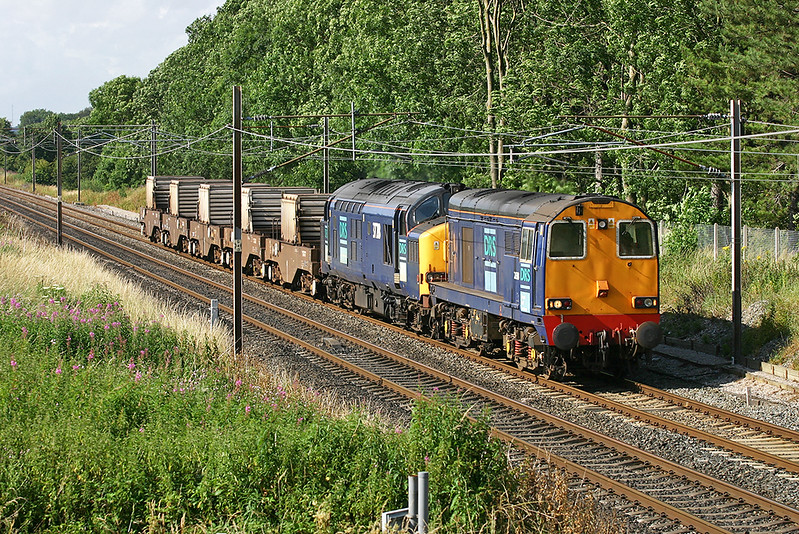 20313 and 37218, Brock 18/7/2005<br /> 6K73 1535 Sellafield-Crewe CLS