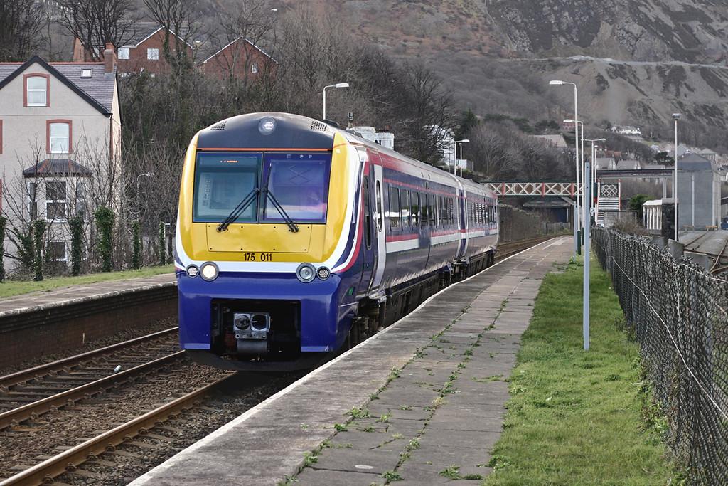 175011 Penmaenmawr 19/2/2005<br /> 1K67 1236 Holyhead-Crewe
