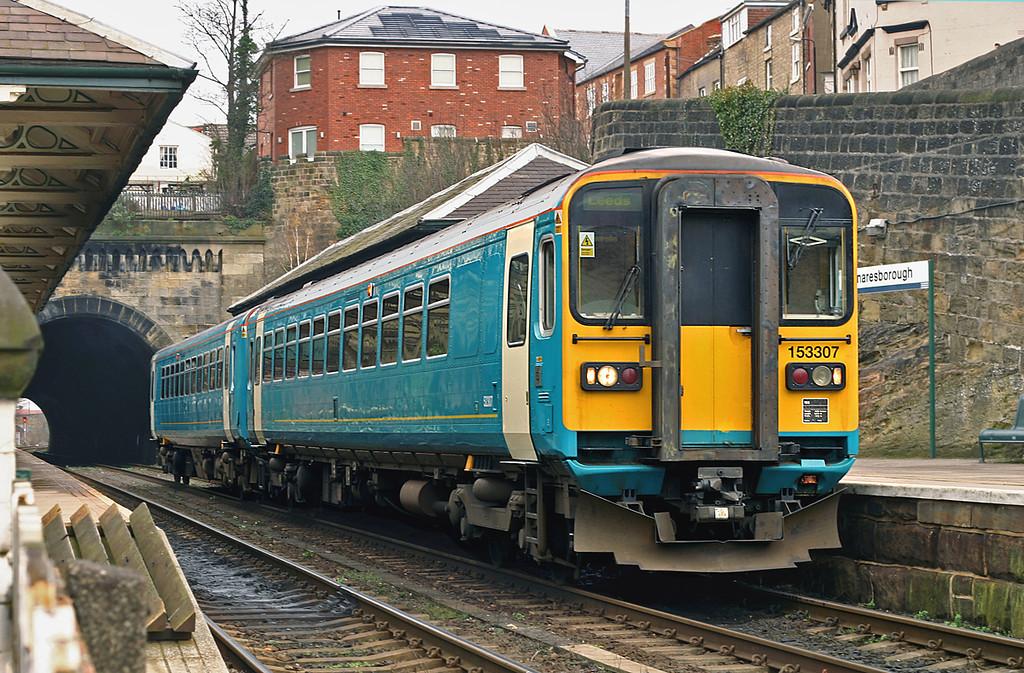 153307 and 153352, Knaresborough 19/3/2005<br /> 2C23 1105 Knaresborough-Leeds