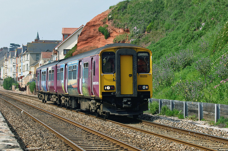 150253 Dawlish 19/6/2005<br /> 2F05 1014 Paignton-Exmouth