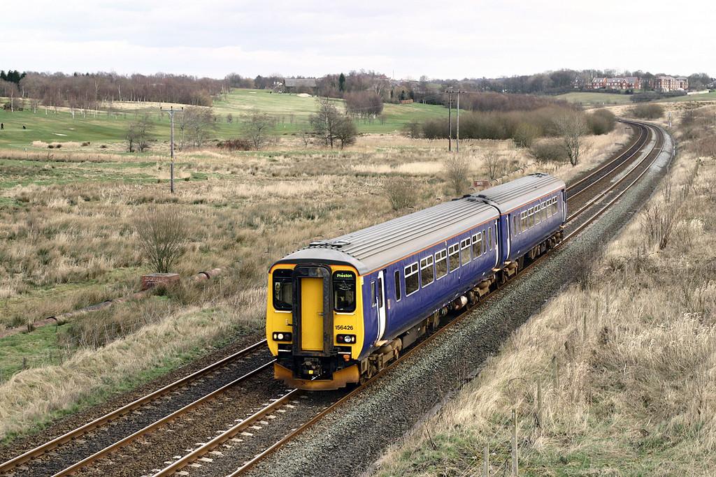 156426 Lostock Hall Fold 20/2/2005<br /> 2N91 1324 Manchester Piccadilly-Preston