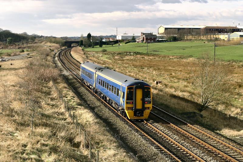 158757 Lostock Hall Fold 20/2/2005<br /> 1N72 1348 Manchester Airport-Preston