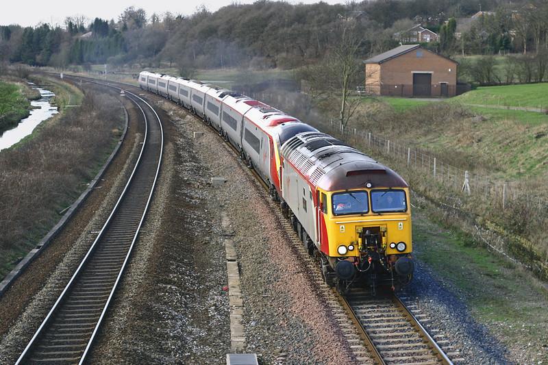 57304 and 390047, Lostock 20/2/2005<br /> 1A47 1210 Preston-London Euston