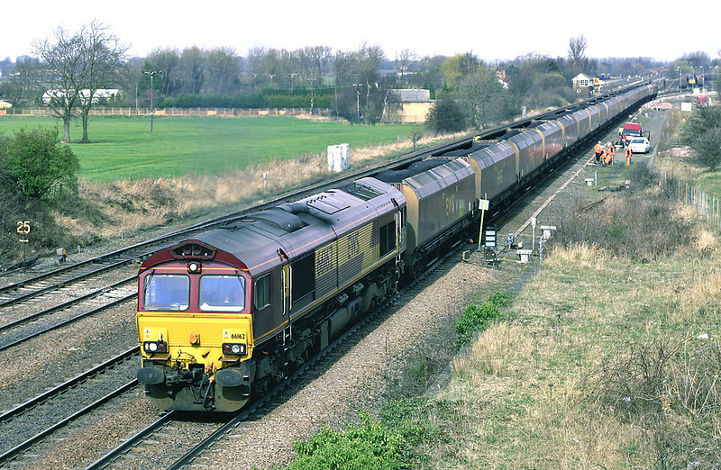 66162 Monk Fryston 21/3/2005<br /> 6H78 1015 Immingham Dock-Drax PS