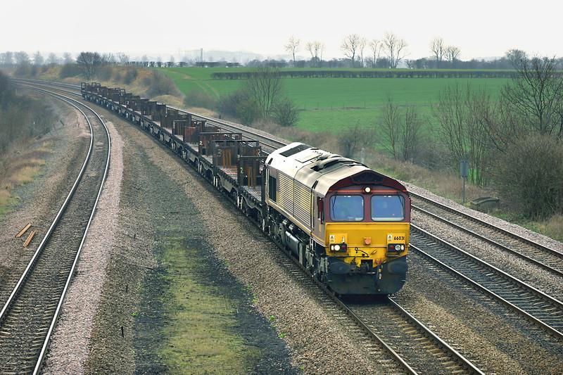 66031 Bolton Percy 21/3/2005<br /> 6E35 0723 Llanwern-Lackenby