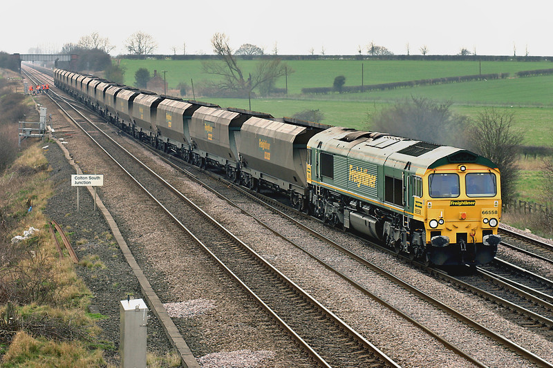 66558 Colton Junction 21/3/2005<br /> 4S07 1430 Drax PS-Hunterston